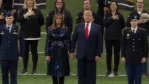 Trumps Enter Stadium To Huge Roar, Chants Of 'U.S.A.'