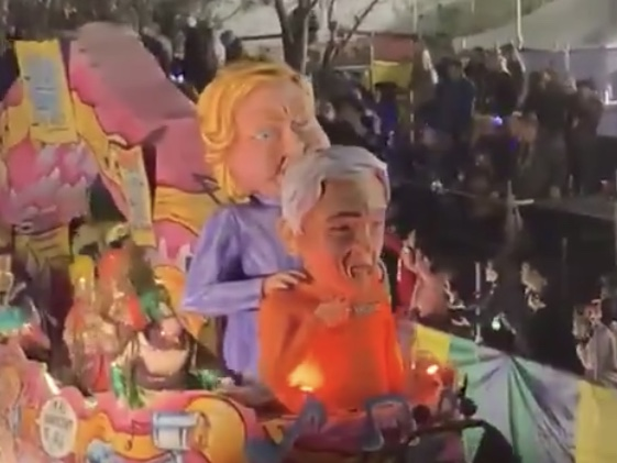 'Epstein Didn't Kill Himself' Float At Mardi Gras Parade
