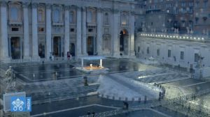 The Pope Prays Alone For World Healing