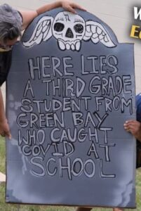 Milwaukee Teachers Union Makes Tombstones To Scare Kids From Returning To School