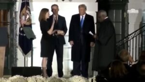 Justice Amy Coney Barrett Sworn In By Justice Clarence Thomas