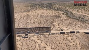 Flyover View: The Vast Difference Between New And Old Border Wall